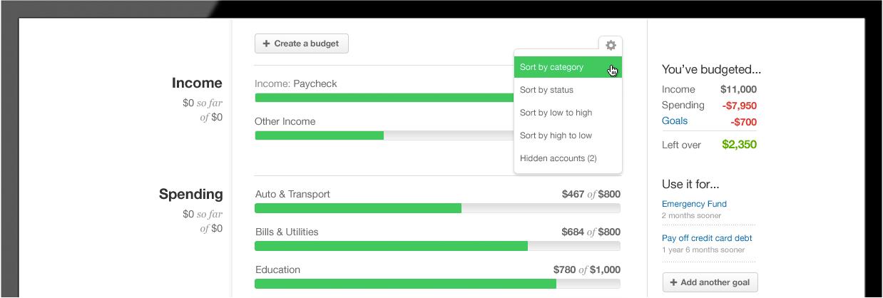 Mint Budgeting Tool