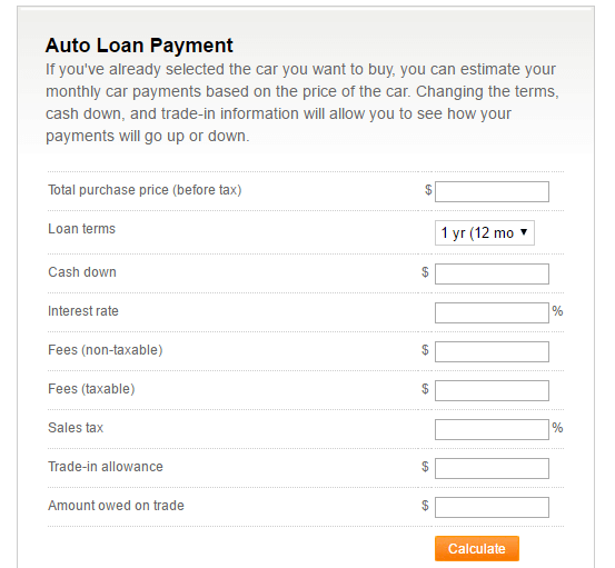 Auto Loan Repayment Calculator