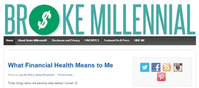 Broke millennial - personal finance blog