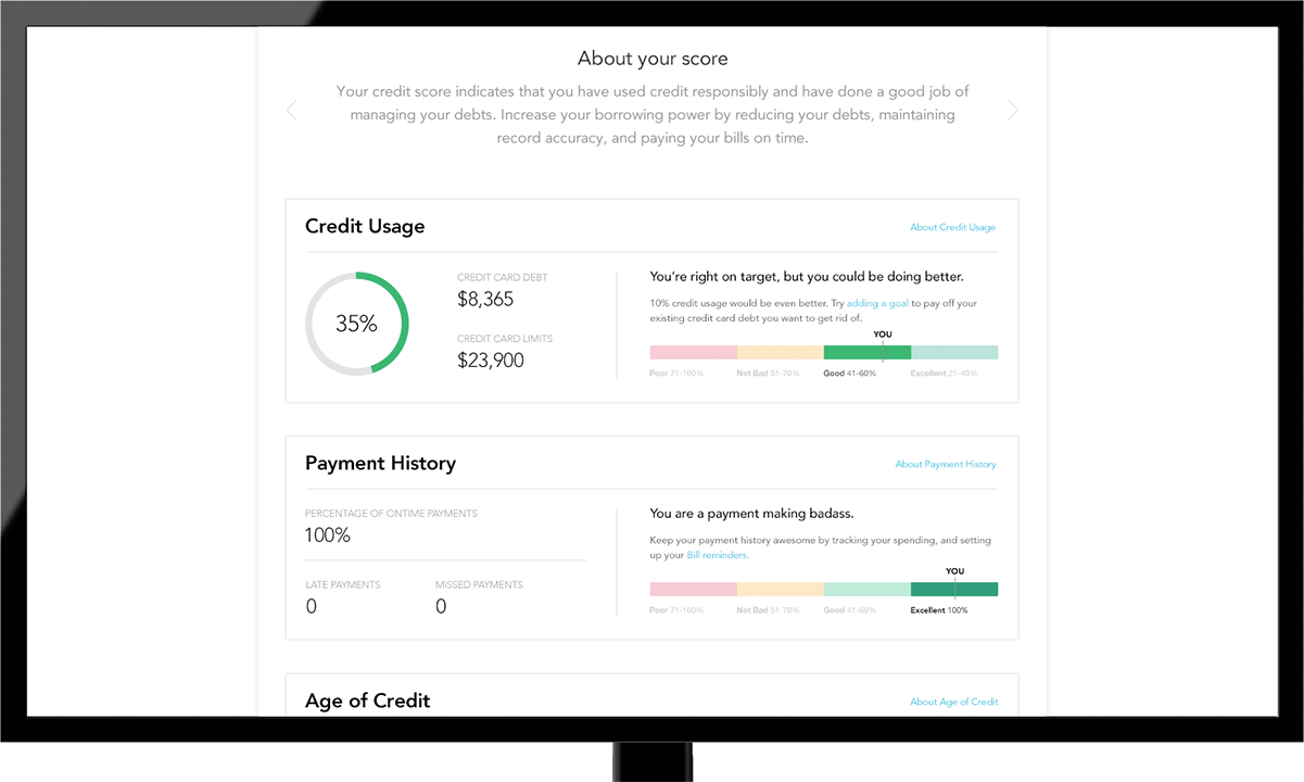 Mint credit monitoring