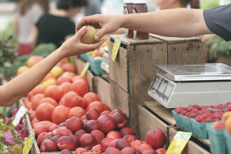 save money on groceries with farmers market